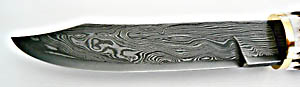Pattern welded damascus steel